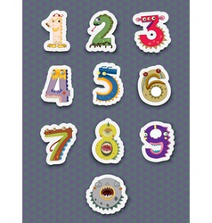 Number stickers vector