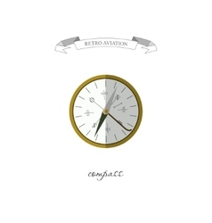 Compass in a flat style retro aviation vector