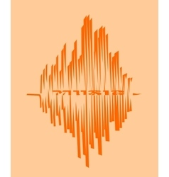 Music relative image sound wave curve vector