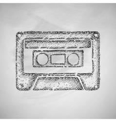 Audiocassette icon vector