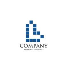 best letter l logo square concept vector image vector image