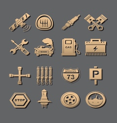 Car set of icons vector