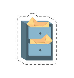 Cartoon cabinet mail envelope vector