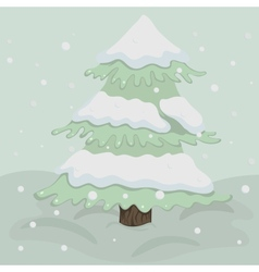 Christmas tree in retro colors vector