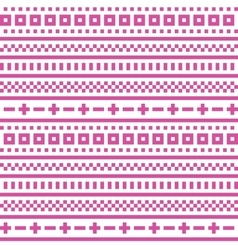 Cross stitch seamless pattern vector image vector image