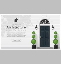 Elements of architecture front door background 15 vector image vector image