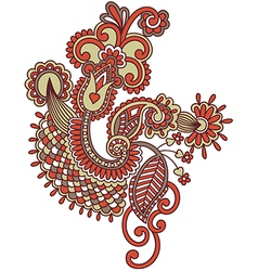 hand draw ornate doodle flower design vector image vector image