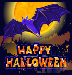 happy halloween sign holiday greetings original vector image vector image