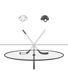 Hockey Design Elements vector image vector image