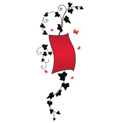 Ivy floral banner vector
