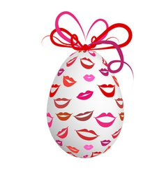 Kissed easter egg for your design vector image vector image