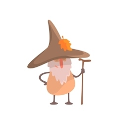 Mushroom desguised as beardy wise man part of vector