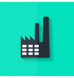 Power station icon flat design vector