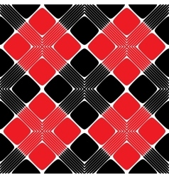 Red and black rectangle seamless pattern vector