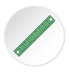 Ruler rectangular shape icon circle vector