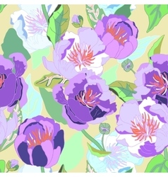 Seamless floral background Isolated blooming vector image