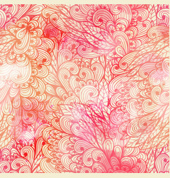 Seamless floral grunge pink gradient pattern vector