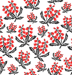 Seamless texture of flowers vector