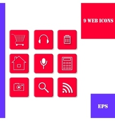 Set of icons for web vector image vector image