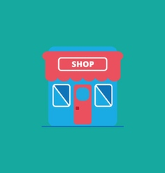 shop and store icon flat style vector image vector image