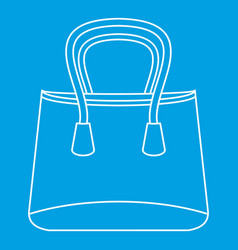 Shop bag icon outline style vector
