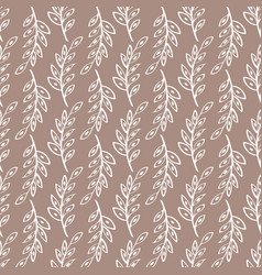 Sprig seamless pattern background vector