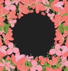 Vintage flowers negative copyspace background vector