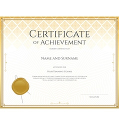 Certificate achievement gold 13 vector