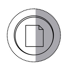 monochrome contour with circle sticker of paper vector image