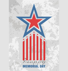 Greeting card for memorial day vector