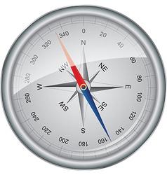 Silver compass vector