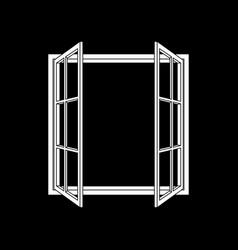 Open window frame icon vector