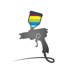 Paint spray gun symbol vector