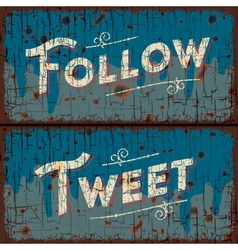 Tweet follow words - social media concept vector