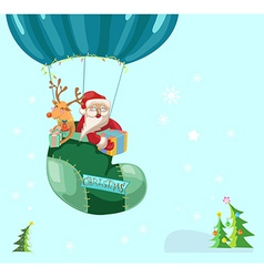 Funny color christmas background with hot air vector