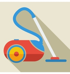Modern flat design concept icon vacuum cleaner vector