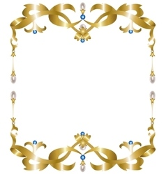 Gold jewelry frame vector