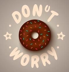 donut worry chocolate vector image