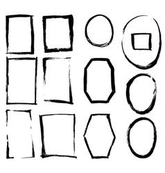 Grunge brush frames vector image