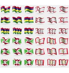 Mauritius turkish northern cyprus burundi sikkim vector