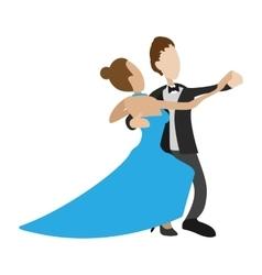 Couple dancing the waltz cartoon vector
