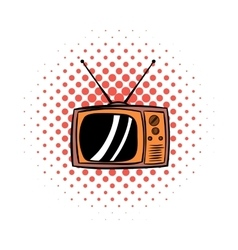 Old tv comics icon vector