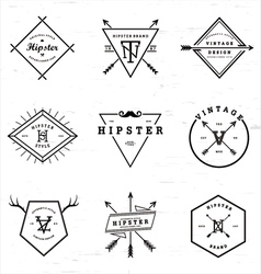 Hipster badges collection vector