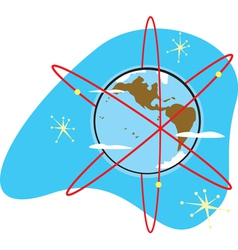 Radio earth vector