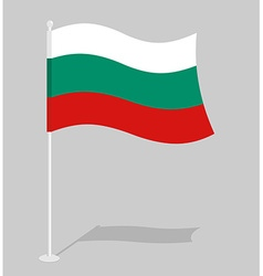 Bulgaria flag official national symbol of vector