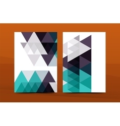 Geometric design a4 size cover print template vector