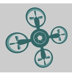 Drone quadrocopter icon aperture symbol vector