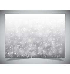 Abstract light winter backgound vector