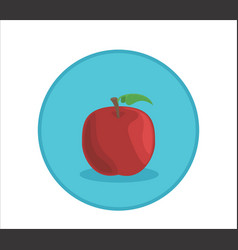 Apple rounded symbol badge vector