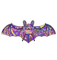 colorful bat vector image vector image